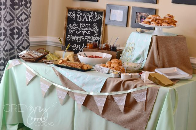 Vintage Shabby Chic, Mint and Gold Baby Shower Party Ideas   Photo 8 of 37   Catch My Party
