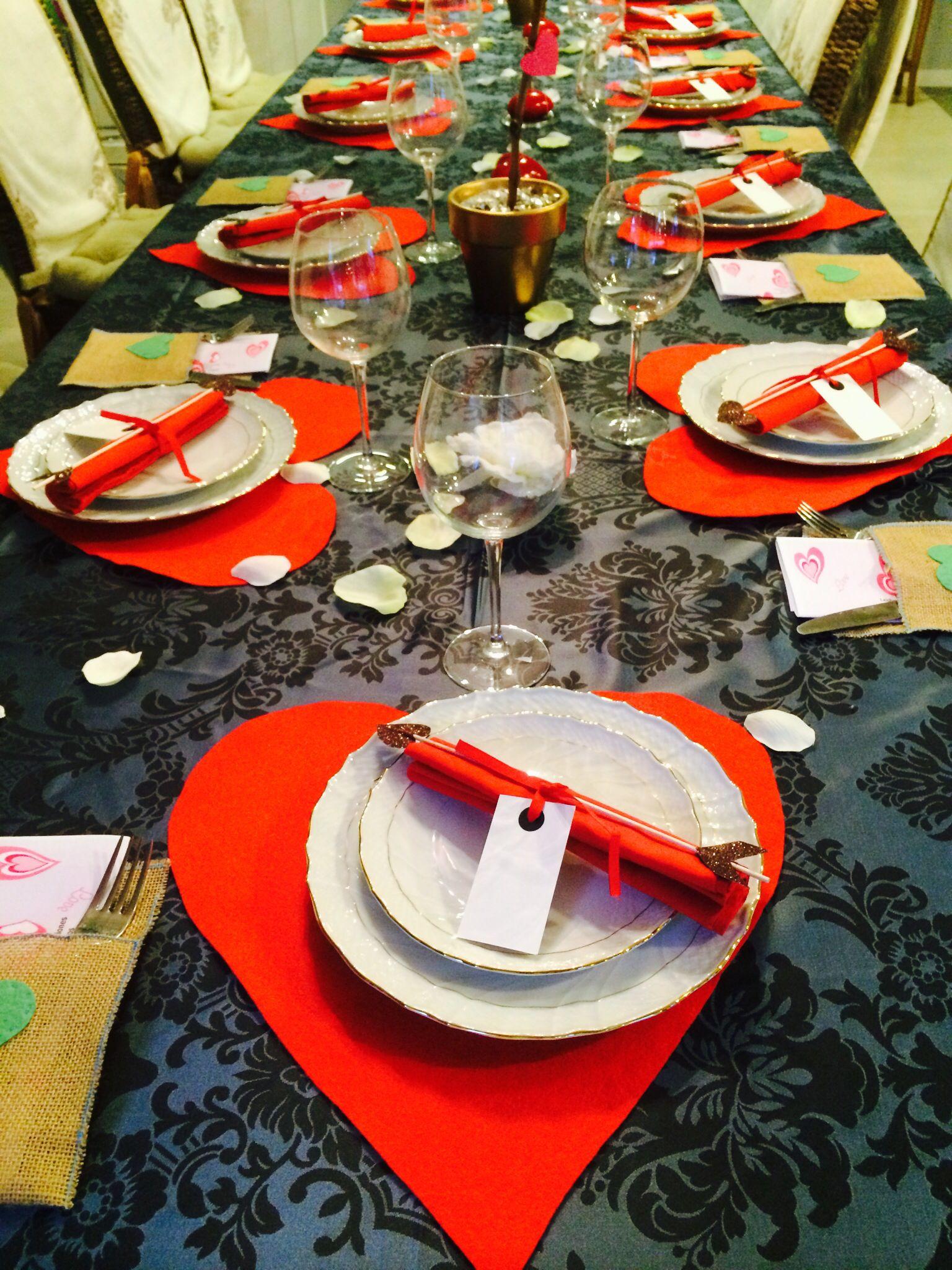 Decoracion mesa cena San Valentin | Decoracion | Pinterest ...