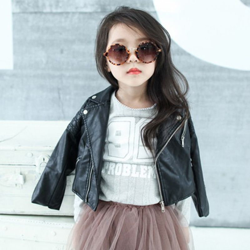 4deb93fa2 DreamShining Spring Kids Jacket PU Leather Girls Jackets Clothes ...