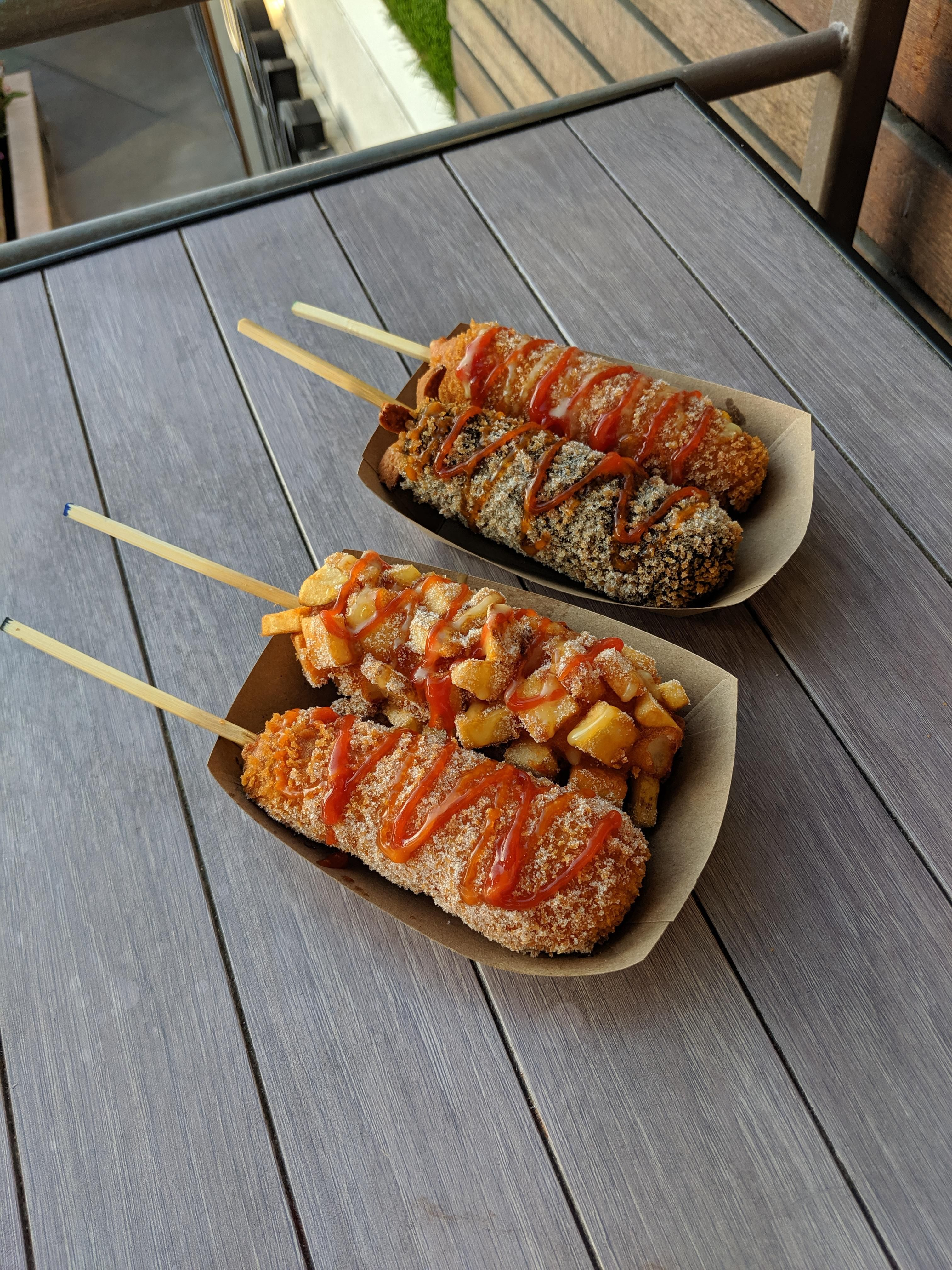 Korean fried corn dogs Gastronomic Inspiration in 2019