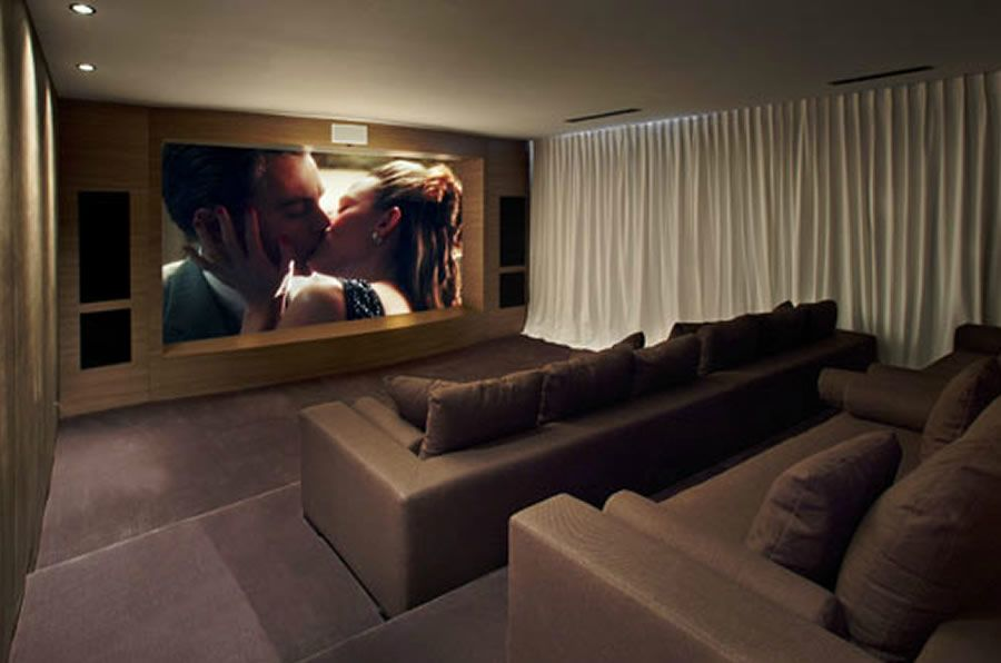 Modern And Sophisticated Theatre Room Interior Design Of Cole