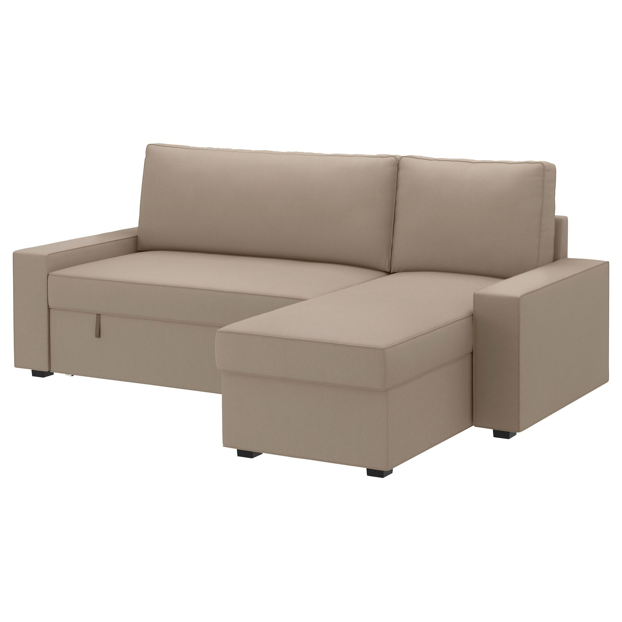 Vilasund Cover Sofa-bed With Chaise Longue - Dansbo Beige - Ikea ... Beige Wei Ikea