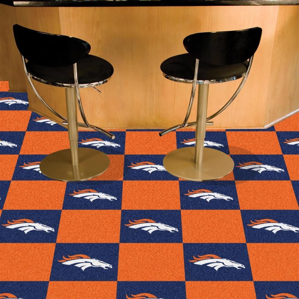 Denver broncos carpet tiles flooring denver baseball training fanmats denver broncos blue and carpet tiles dailygadgetfo Choice Image