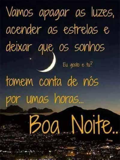 Deus cuide de nós boa noite