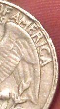 1966 Washington Quarter Error Coin Reverse  Rim Error  Cud