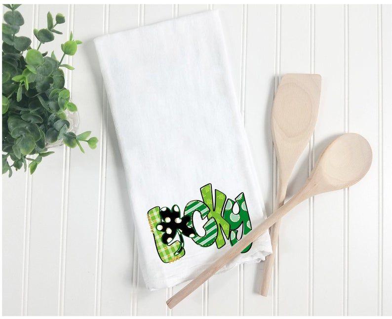 Tea Towel Lucky St Patrick S Day Tea Towel St Patrick S