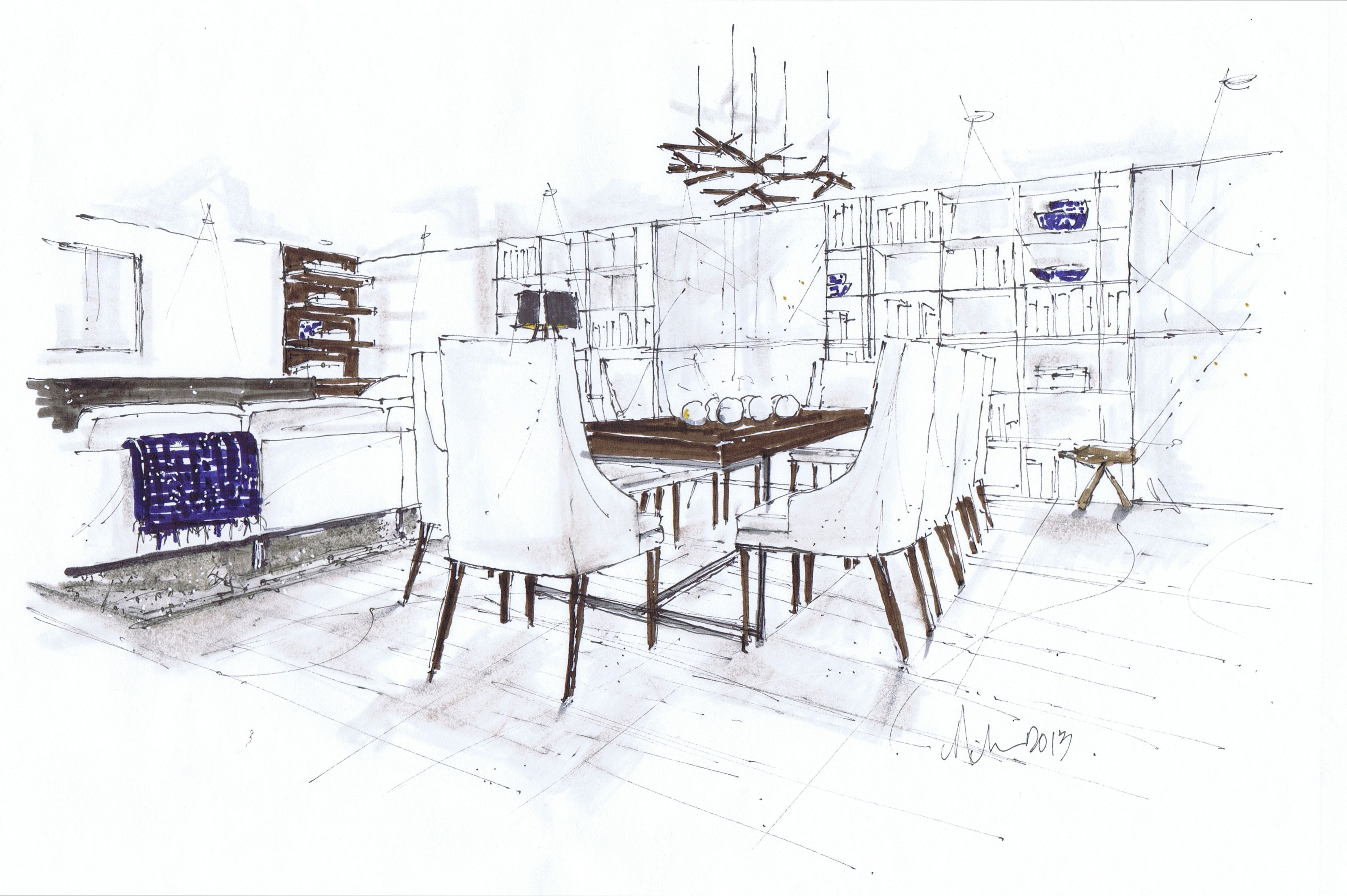 Small Modern Dining Room Michelle Morelan Design And Rendering