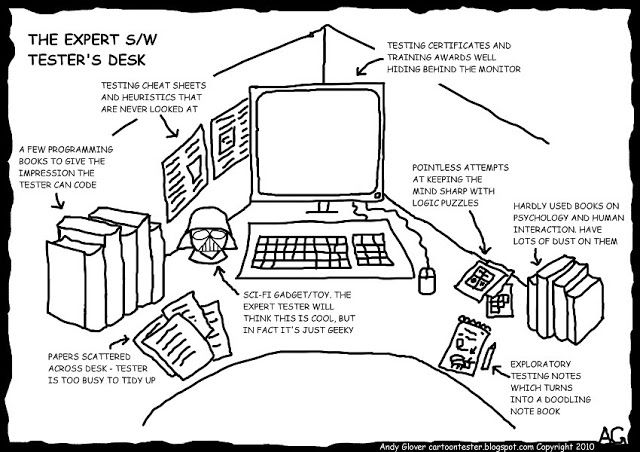 Cartoon Tester: Design your desk to give a good impression