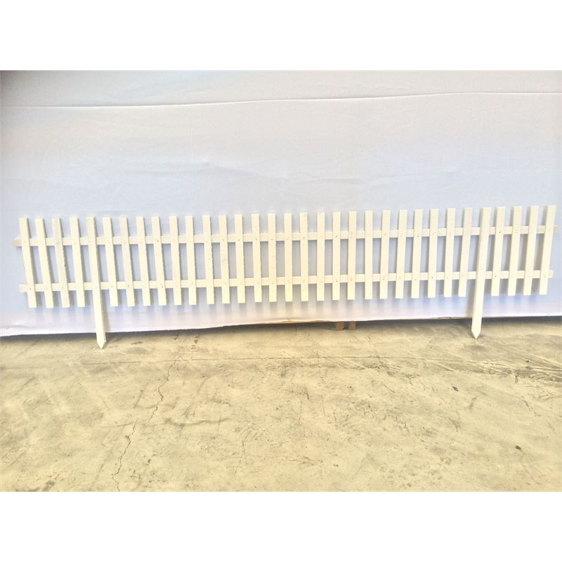 Premier Lattice 1800 X 300mm White Hardwood Border Fence Bunnings