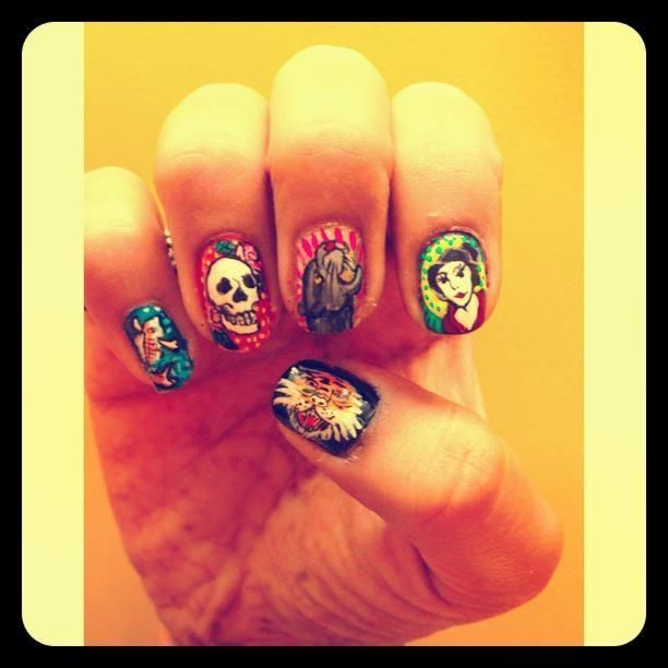 Nail art - Ed Hardy theme - Design by Akshita Shah in nailart at ...