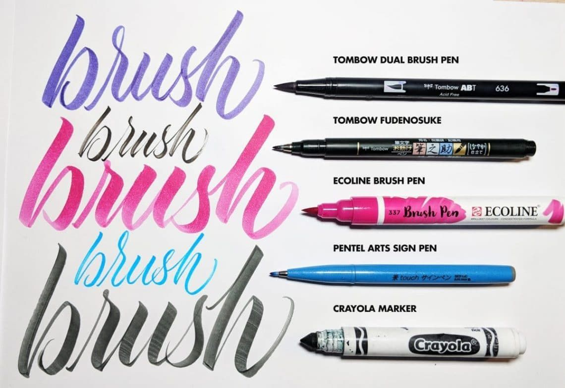 Top 5 Best Brush Pens For Calligraphy 2019 Best Brush Pens