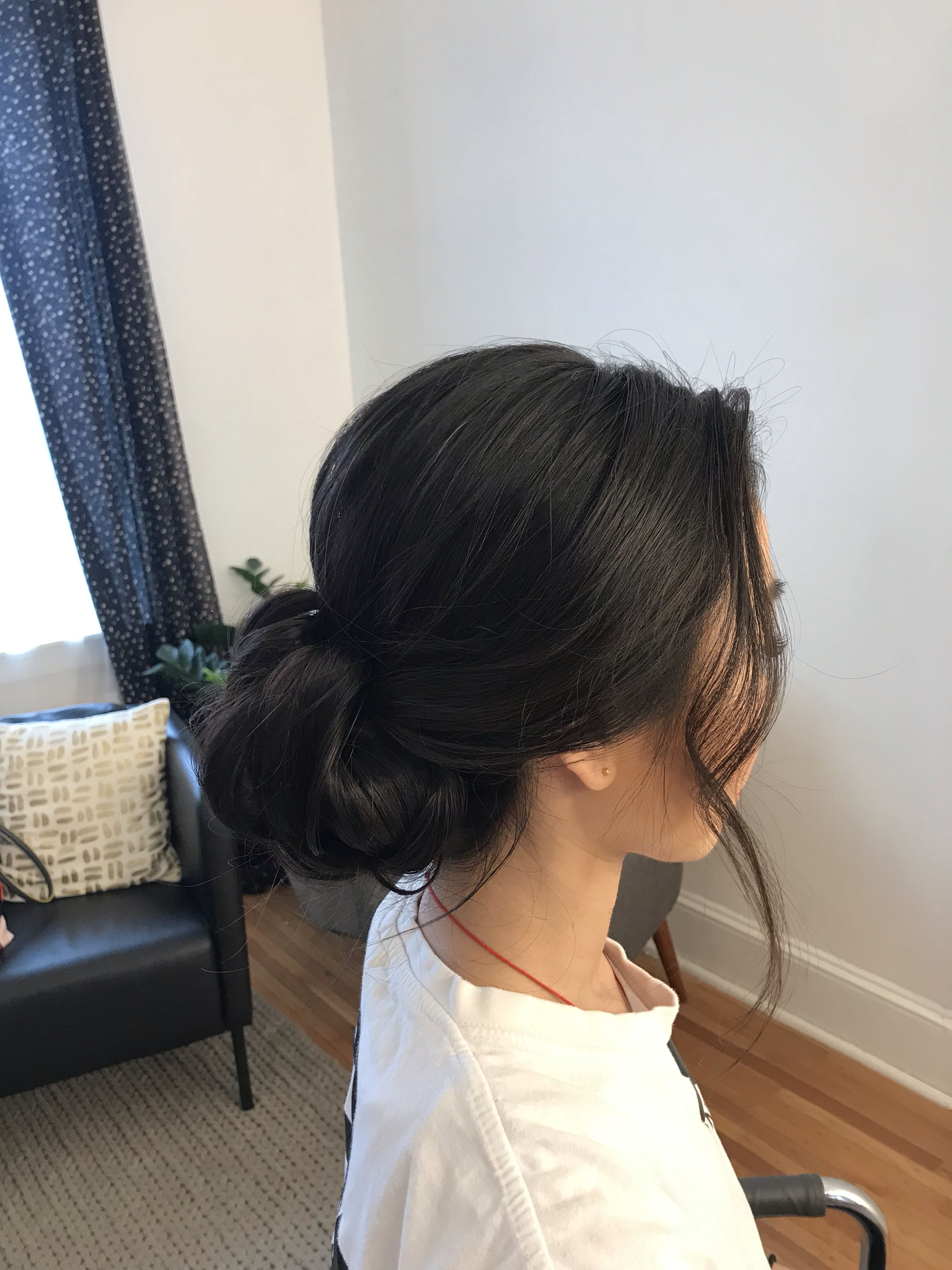 Dark Hairstyles Dark Low Up Do Asian Wedding Hair Hair Styles Wedding Hairstyles Updo