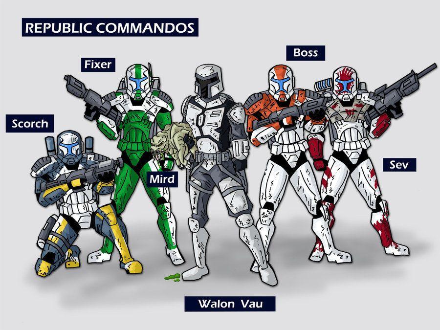 how to draw star wars clone commandos