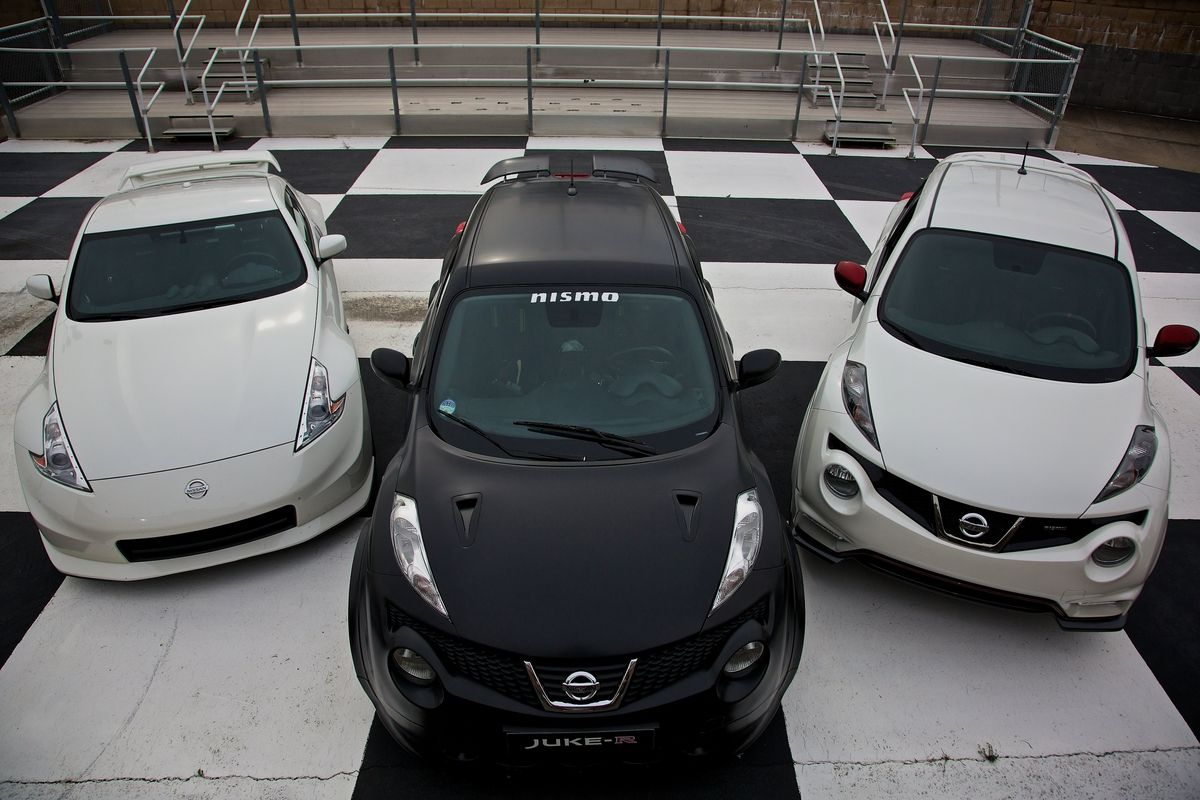 Nissan 370Z NISMO, Nissan Juke-R, Nissan Juke NISMO. Which would you choose for a lap around the track?