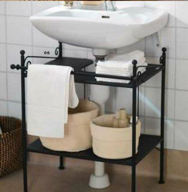 Creative Under Sink Storage Ideas Sink Shelf Pedestal Sink