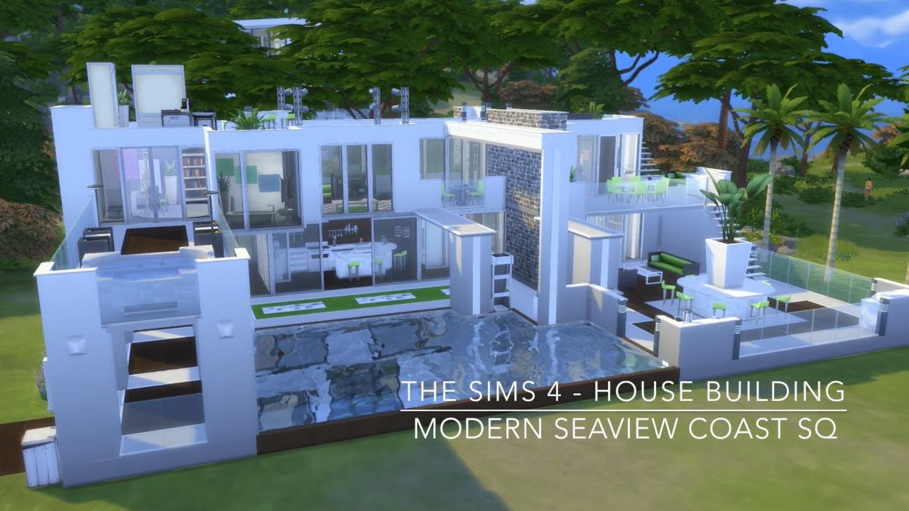 The Sims 4 House Building Modern Seaview Coast Sq