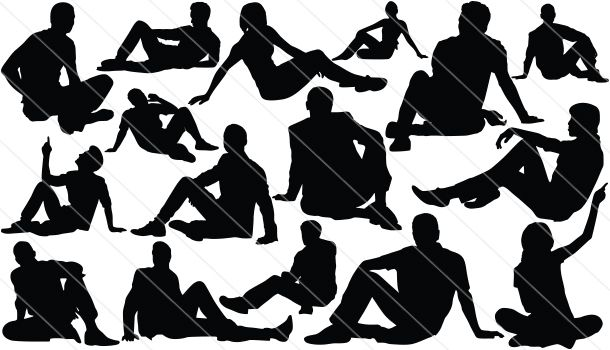 People Sitting Silhouette People Silhouettes Sitting On Ground Silhouette People Drawing People Drawing People Faces