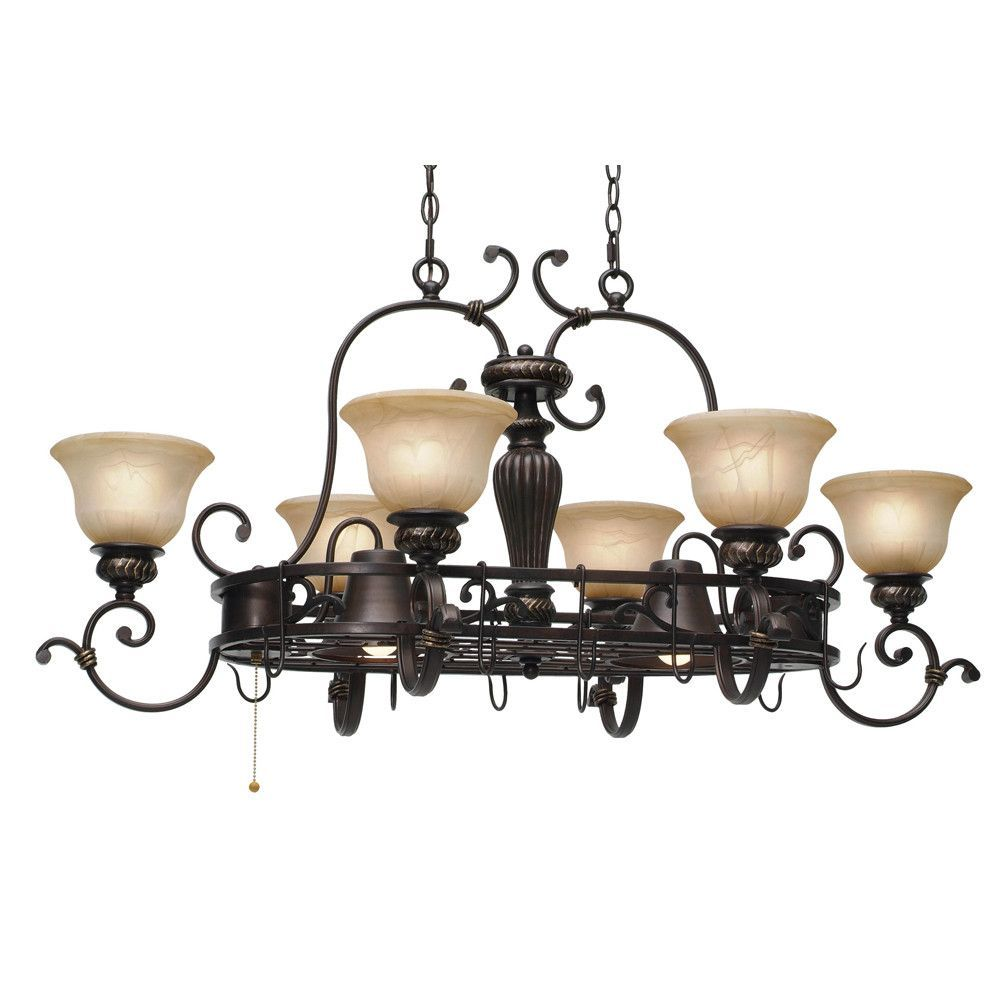 Cartleton Chandelier Pot Rack With 8 Light