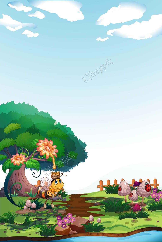 Dibujos Animados De Animales Del Bosque Pintado A Mano Poster