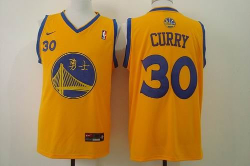 online store c9693 41fdf Golden State Warriors #30 Stephen Curry yellow Jersey ...