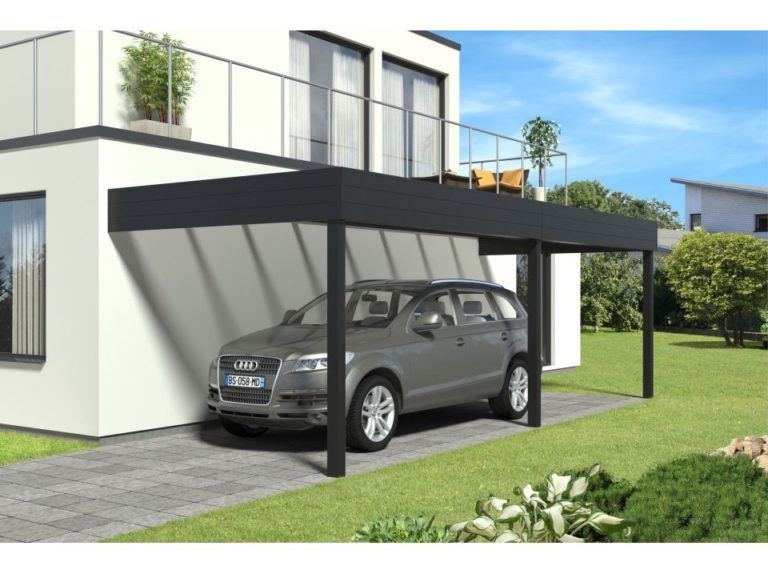 Abri Voiture Plan Carport A Toit Plat Pour 2 Voitures Plans Maisons En 2020 Abri Voiture Abri Pour Voiture Pergola Carport Aluminium