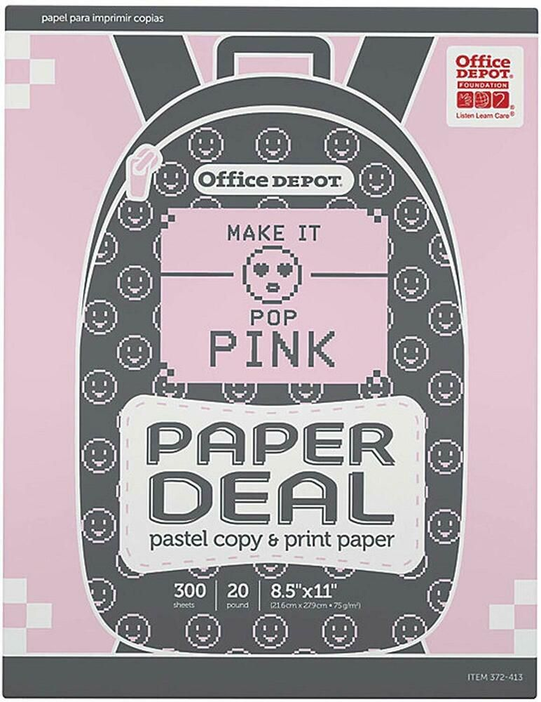 Office Depot Pink Pastel Paper Deal Copy And Print Paper