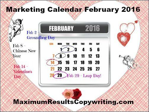 Looking Ahead - Marketing Calendar February 2016 - http - what is a marketing calendar