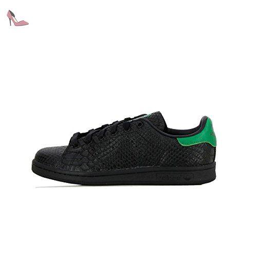 Basket Adidas Stan Smith Noir Croco et Vert Chaussures