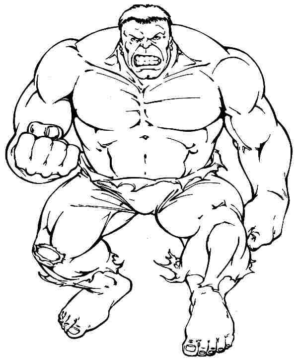 Superhero Hulk Colouring Pages Free For Boys Girls 49802