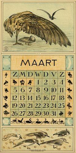 Theodoor van Hoytema, calendar 1916 March
