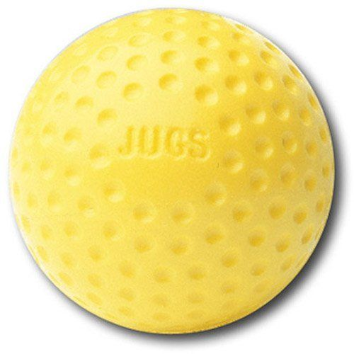 Yellow Dimpled Baseballs One Dozen Jugs Training Ball Pitching Machine 9 Inches Team Sports Balls