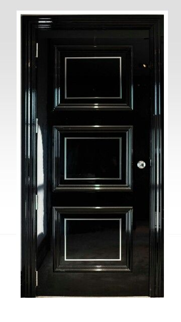 Feature Glossy Black Door It Needs Swarovski Crystals On It To Make It Perfect Black Front Doors Wood Doors Interior Black Doors