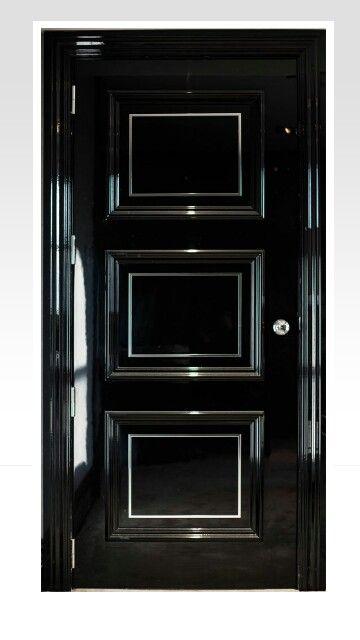 Feature Glossy Black Door It Needs Swarovski Crystals On It To Make It Perfect Black Front Doors Wood Doors Interior Black Doors
