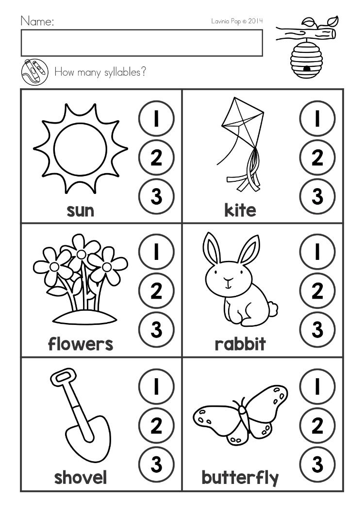 Spring Kindergarten Math And Literacy Worksheets Activities No Prep Syllables Syllable Worksheet Literacy Worksheets Spring Math Kindergarten [ 1060 x 750 Pixel ]