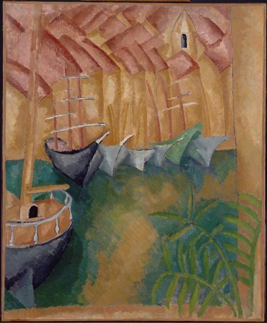 Raoul Dufy ( 3 juin 1877 - 23 mars 1953) Bateaux à quai dans le port de Marseille 1908 (C) ADAGP Credit:  Photo (C) Centre Pompidou, MNAM-CCI, Dist. RMN-Grand Palais / Jean-François Tomasian