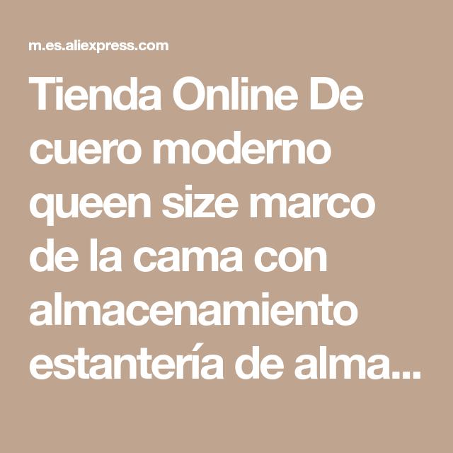 Tienda Online De cuero moderno queen size marco de la cama con ...