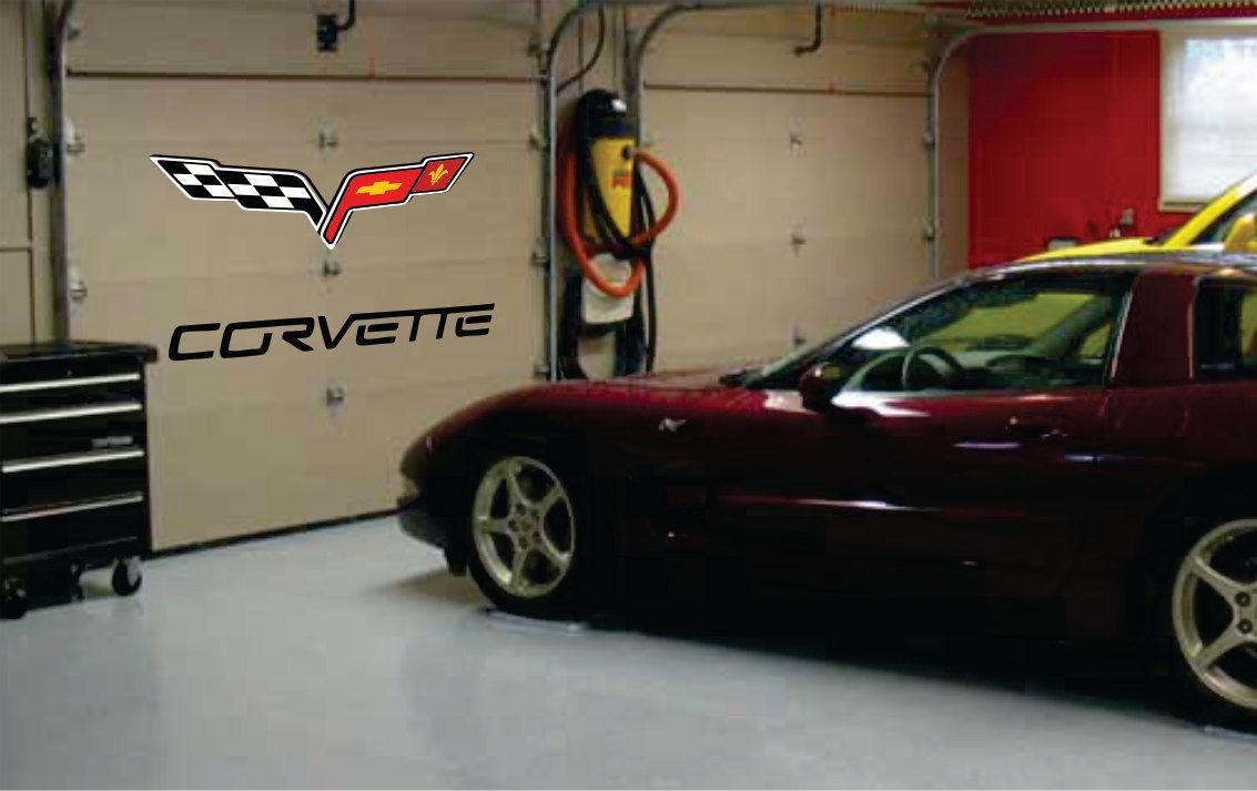 Corvette Car Decal Garage Door Or Wall Decal 10 X By Signjunkies 52 95 Car Corvette Car Decals