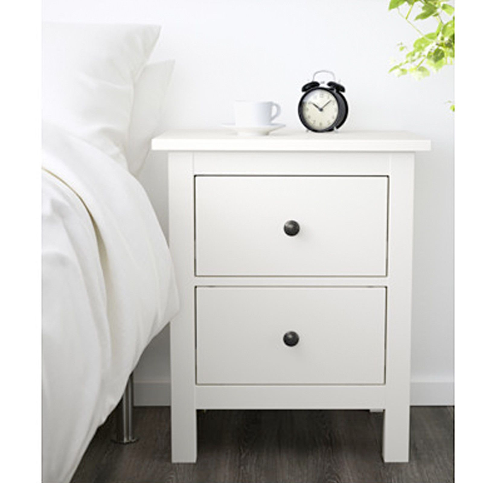 Ikea Hemnes Commode Avec 2 Tiroirs Blanc Table De Chevet