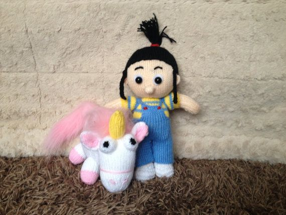 Despicable Me Agnes And Fluffy So Cute Knitting By Toypatterns