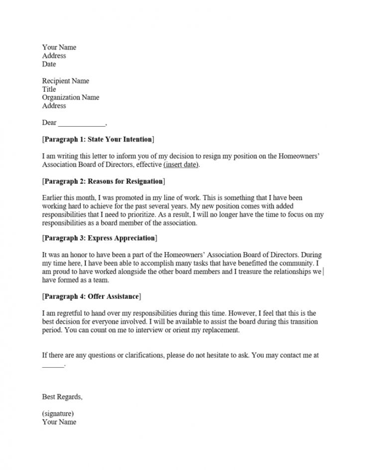 16++ Board resignation letter examples trends