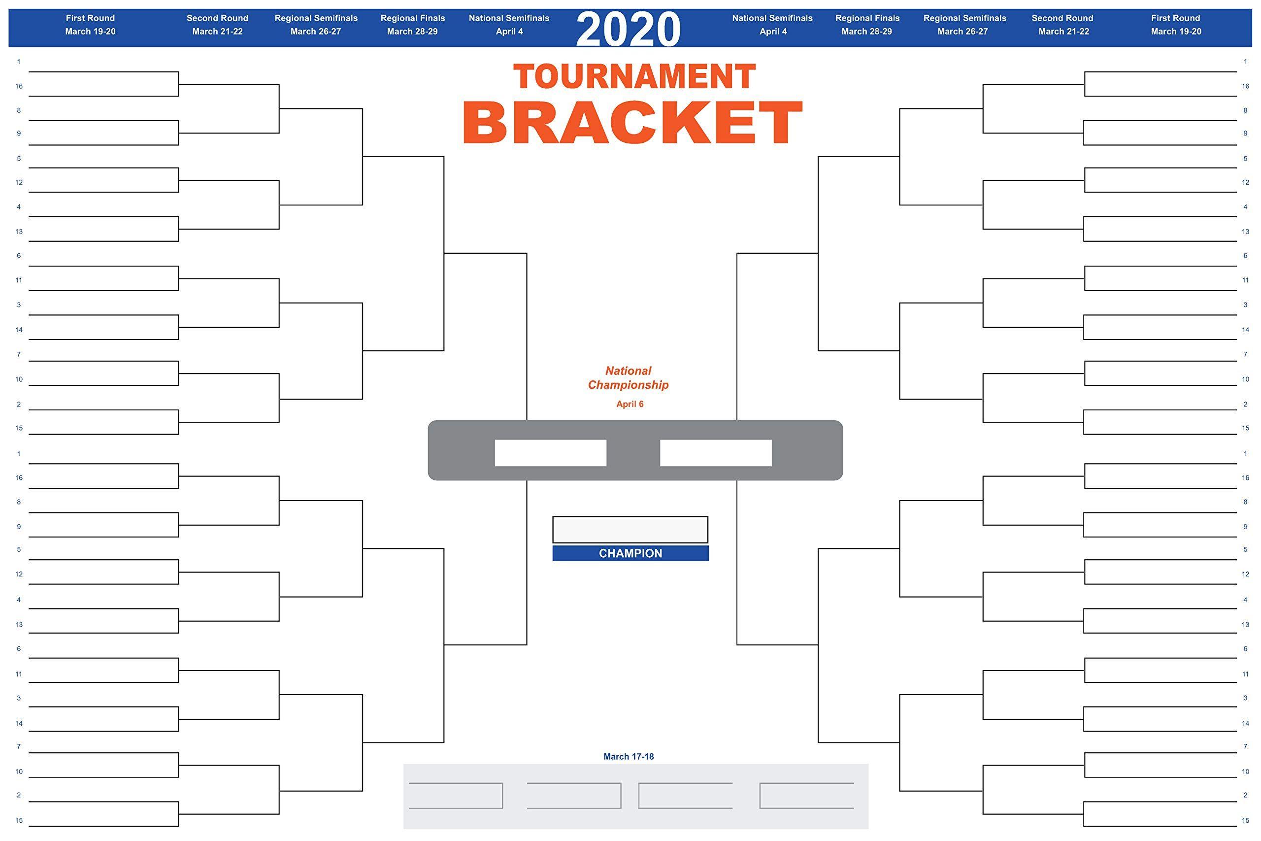 Copy King Basketball Tournament Bracket in 2020