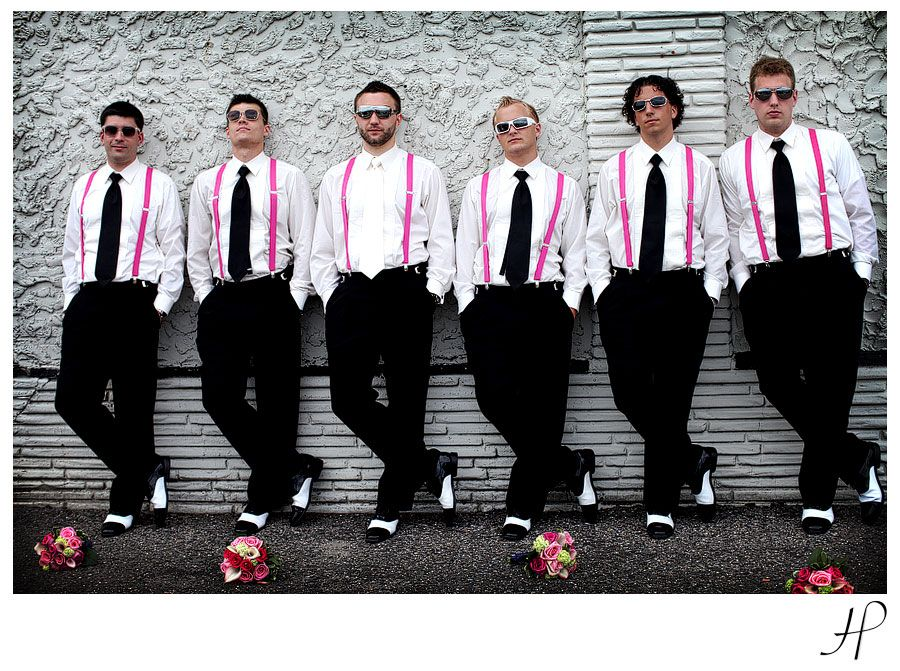 A splash of hot pink for these Groomsmen make this wedding SEXY! | Wedding Party | Pinterest ...