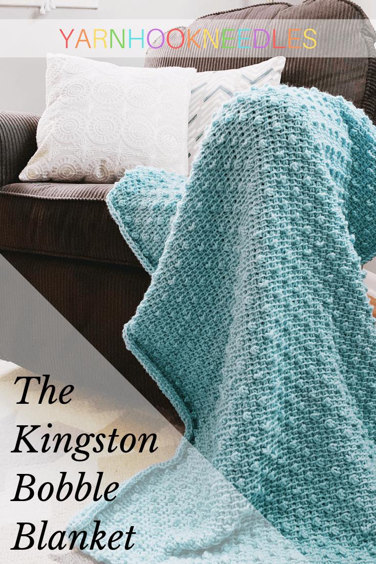 Make This Adorable Tunisian Crochet Blanket - YarnHookNeedles #tunisiancrochet