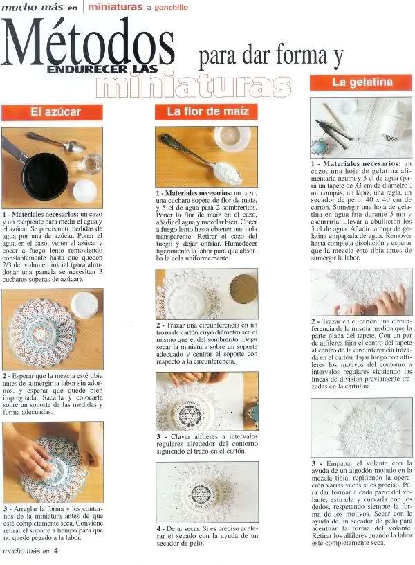 Como Endurecer Almidonar el Tejido - Patrones Crochet | DIY ...