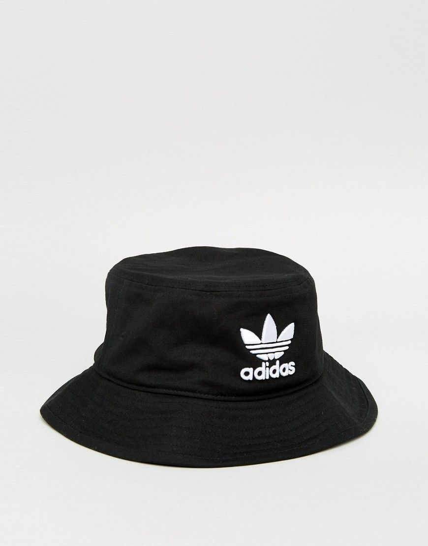 2ee3df96bae discount adidas originals trefoil bucket hat in black bk7345 black 47d3c  6cc4c