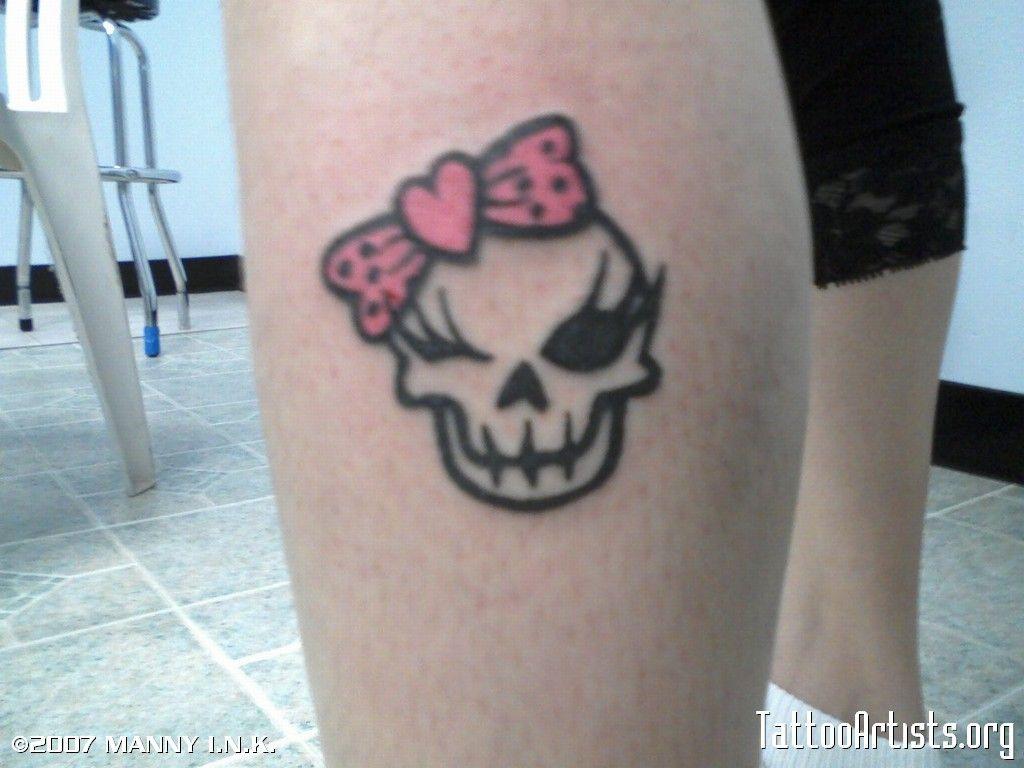 girly skull designs Cute tattoos
