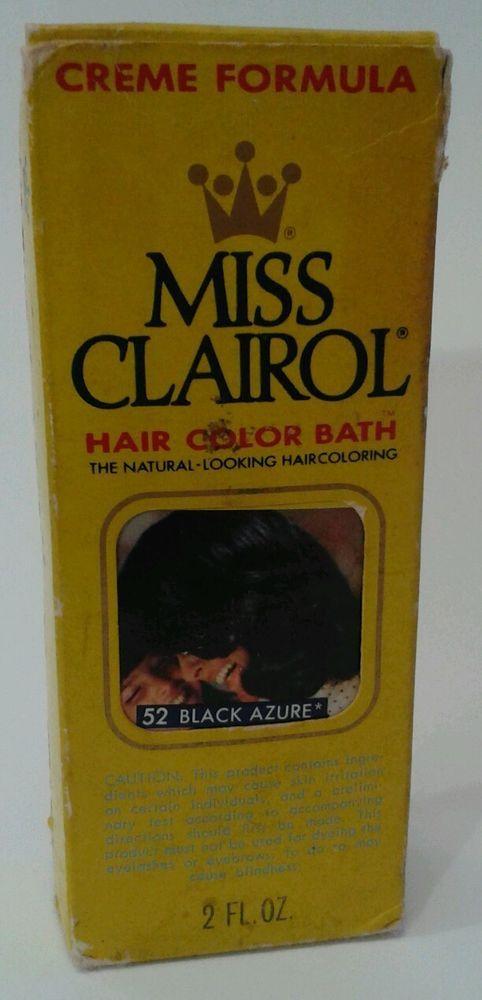 vintage clairol hair color