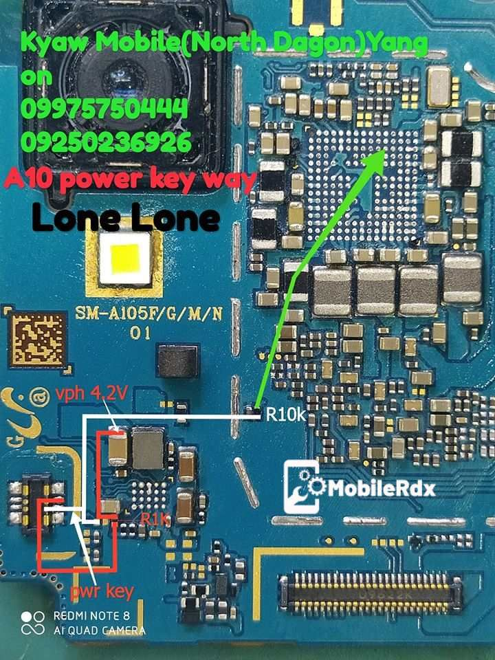 Samsung Galaxy A10 A105f Power Key Ways Volume Button