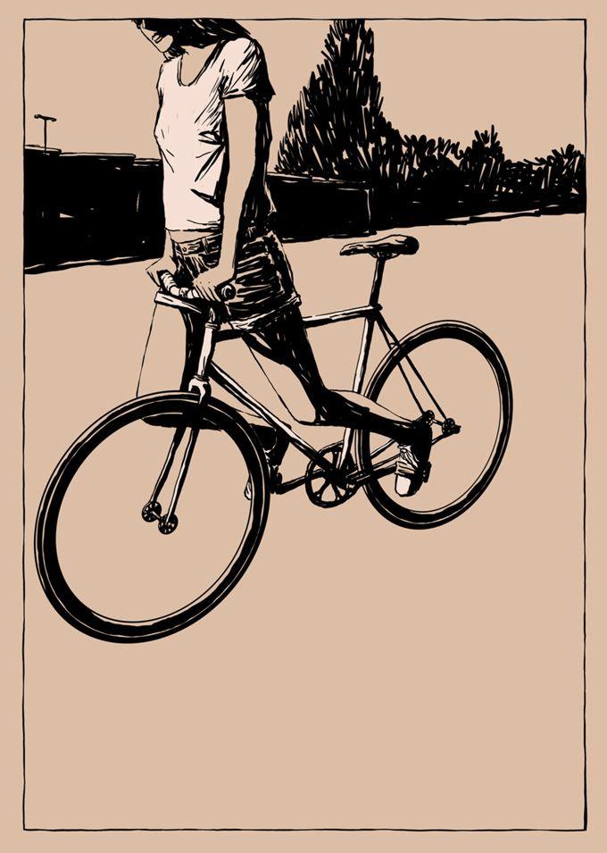Bicicletas De Adams Carvalho Bicicleta Ilustracao Ilustracao De