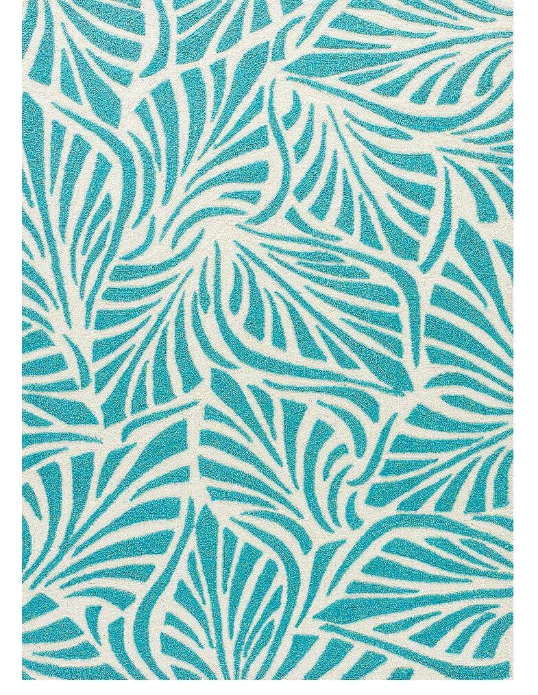 Frond Teal Outdoor Rug A Dynamic Modern Tropical Leaf Pattern Teal Rug Tropical Rugs Area Rugs